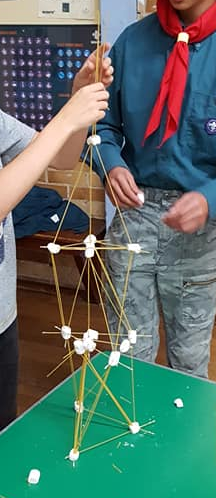Scouts 10th Sept - This week we tried to make the tallest tower out of spaghetti and marshmallows, with some great unique efforts. Either side we played chair basketball and 123. We finished the evening off by handing out lots of badges following summer camp.